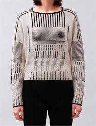 christian sweaters graphic sweater with line pattern linear fashion details