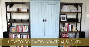 Industrial Bookcase Diy How To Diy Rustic Industrial Shelves Curbly