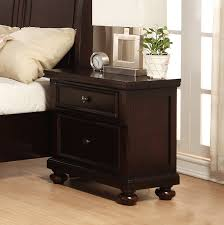 Dark Cherry Laminate Flooring Nightstand Mesmerizing White Painted Wooden Nightstand Side