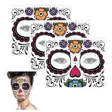1 3 5 sheets day of the dead dia de los muertos mask sugar