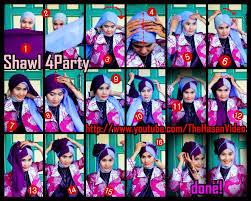 tutorial hijab pesta 2 kerudung tutorial jilbab untuk hijaber indonesia tutorial hijab shawl