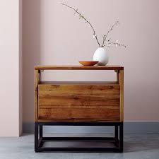 logan industrial nightstand natural west elm