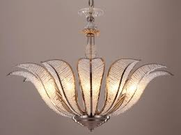 Tropical Chandelier Lighting Ak4000 Tropical Vintage Art Deco Style 1930 U0027s Clear Glass Flower
