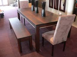 wood pretty solidg table with bench oversized kitchen long room