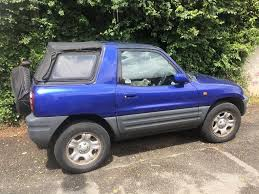 toyota rav4 convertible for sale toyota rav4 top 3d blue for sale in dartmouth gumtree