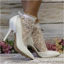 ribbon lace lace ankle sock with ribbon tie socks for heels