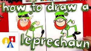how to draw a cartoon leprechaun youtube