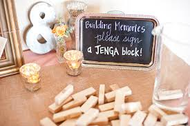 jenga wedding guest book thedjservice com albany ny wedding dj