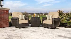 Swivel Rocker Patio Chair Breckenridge Swivel Rocker 2 Piece Patio Furniture Set Natural