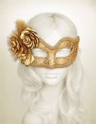gold masquerade mask metallic gold masquerade mask with fabric roses lace