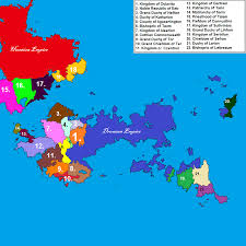 Continent World Map by Map Of The Main Continent In My Fantasy World Worldbuilding