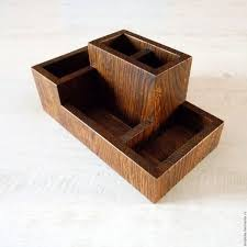 Desk Organizers Wood by Buy Organizer Table Oak 205х115х100мм On Livemaster Online Shop
