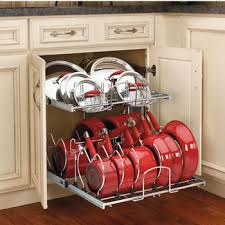 kitchen cabinet storage containers cookware organizers pot pan organizers bakeware