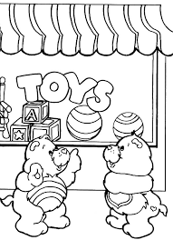 care bears front toys shop coloring pages place color