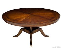 round cherry dining table with diamond inlay made in nc at 1stdibs