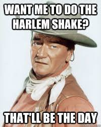 Meme Harlem Shake - want me to do the harlem shake that ll be the day hell no john