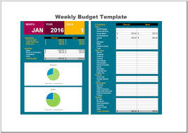 Free Excel Budget Template Free Weekly Budget Template For Excel 2007 2016