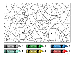 a color by number printable for kids at road trip coloring pages