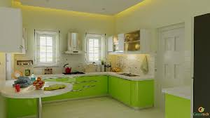 Model Kitchen European Type Kitchen Kerala Model Home Plans