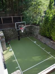Half Court Basketball Dimensions For A Backyard by Backyard Basketball Courts Houzz