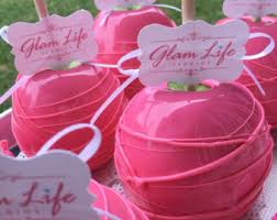 candy apple party favors candy apples etsy