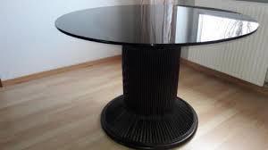 esstisch italienisches design runder esstisch rattan mit glasplatte italienisches design in