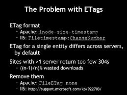 apache etag the problem with etags ul li etag