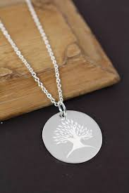 custom engraved pendant gift family tree necklace grandmother necklace