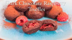 dark chocolate raspberry truffles youtube