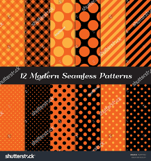 halloween repeating background patterns halloween orange black jumbo polka dot stock vector 154777550