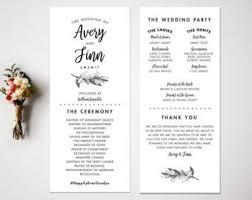 wedding program design arrow wedding program design