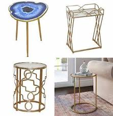 small gold side table metal round side table small gold furniture vintage lounge coffee