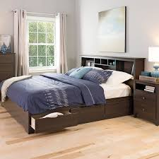 Queen Headboard With Shelves by Furniture Home Queen Size Storage Bed With Bookcase Headboard