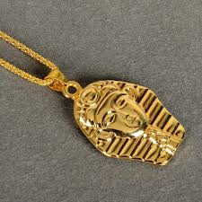 Name Chains Gold Wholesale Moonso Hip Hop The Egypt Pharaohs Face Pendant Necklaces