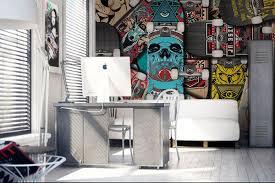 papier peint design chambre papier peint chambre ado skates izoa