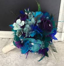Peacock Themed Wedding Peacock Themed Wedding Bouquets