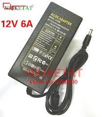 1pcs 12v 6a 12v6a ac100v 240v led light power adapter led power