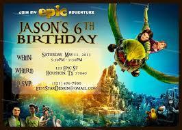 personalized bluesky u0027s epic movie birthday party invitation and