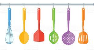ustensile de cuisine en plastique ustensiles de cuisine en plastique coloré seul sur fond blanc