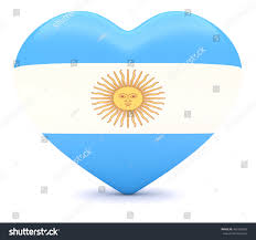 Argentina Flag Photo Love Argentina Argentine Flag Heart 3d Stock Illustration