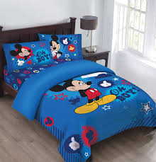 Childrens Twin Comforters Disney Mickey Oh Boy Gosh Licensed Comforter Set W Fitted Sheet