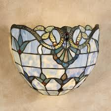 Wireless Sconces Meeska Stained Glass Wireless Led Wall Sconce