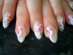 weddings nail art design with pink flowers nail art pinterest