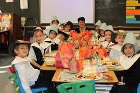 graders at st school in chatham hold thanksgiving