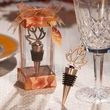 wine wedding favors autumn themed wine bottle stopper weddingfavors