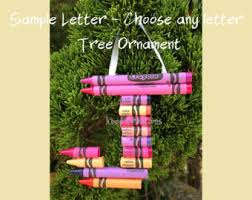 crayon letter etsy