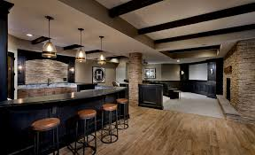 20 beautiful basement designs with wooden floors light building