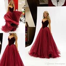 2017 long puffy prom dress elegant arabic style maroon burgundy