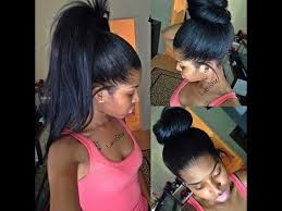 owigs clip ins high ponytail and bun with clip ins no lumps 1