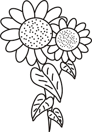 Sunflower Colouring Pages Printable Coloring Pages For Kids With Sunflower Coloring Page